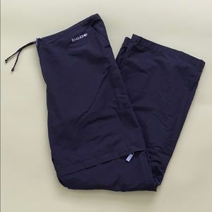 Y2K Bebe Sport Black Parachute Pants
